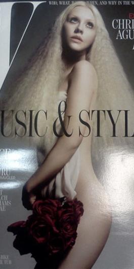 Christina o Beyonce? Mejor portada para W Megazine Christina-aguilera-nude-for-w_265x530