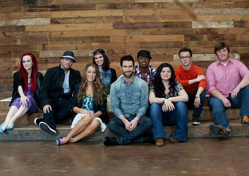 Te presentamos al #TeamXtina - The Voice The-voice-team-adam-levine_510x360