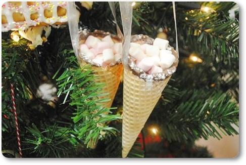 Tko bi im odolio – jestivi ukrasi za bor Hanging-cones---marshmallow