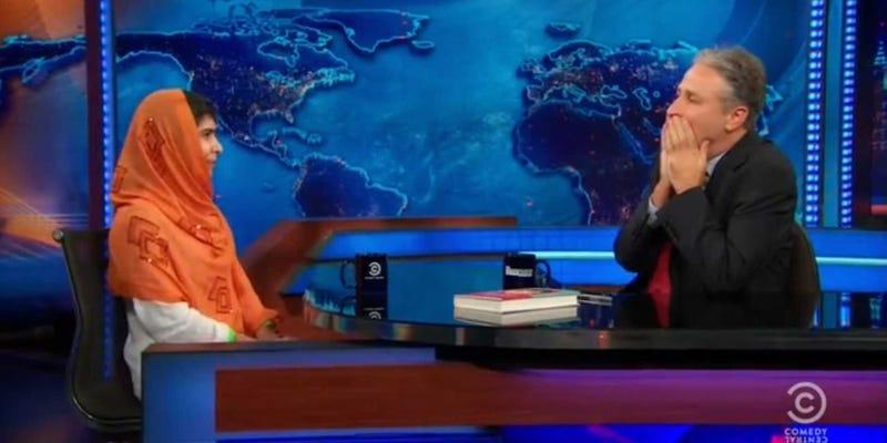 Jon Stewart e blackface: Tem politicamente correto matou o humor judaico? Malaladailyshow-2
