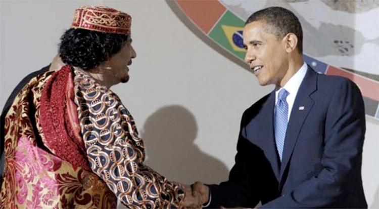 Aznar: Habría que dar a Cuba el mismo tratamiento que a Libia - Página 2 Obama_-_Gadafi_