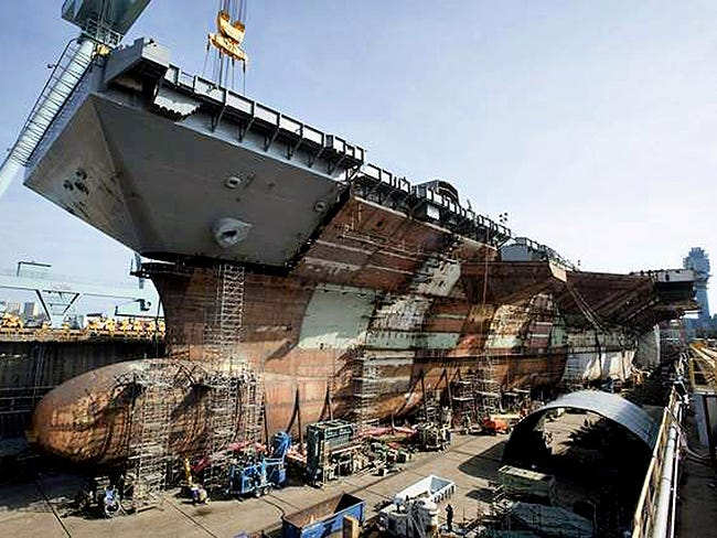 Russian Naval Shipbuilding Industry: News - Page 4 Uss-gerald-ford