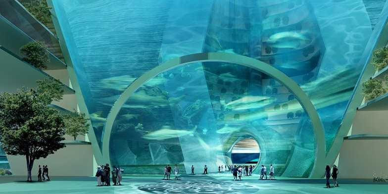 "Проект ""Капсула Времени"" (автор - Наталья Эу) This-concept-design-for-a-futuristic-floating-ocean-city-is-amazing"