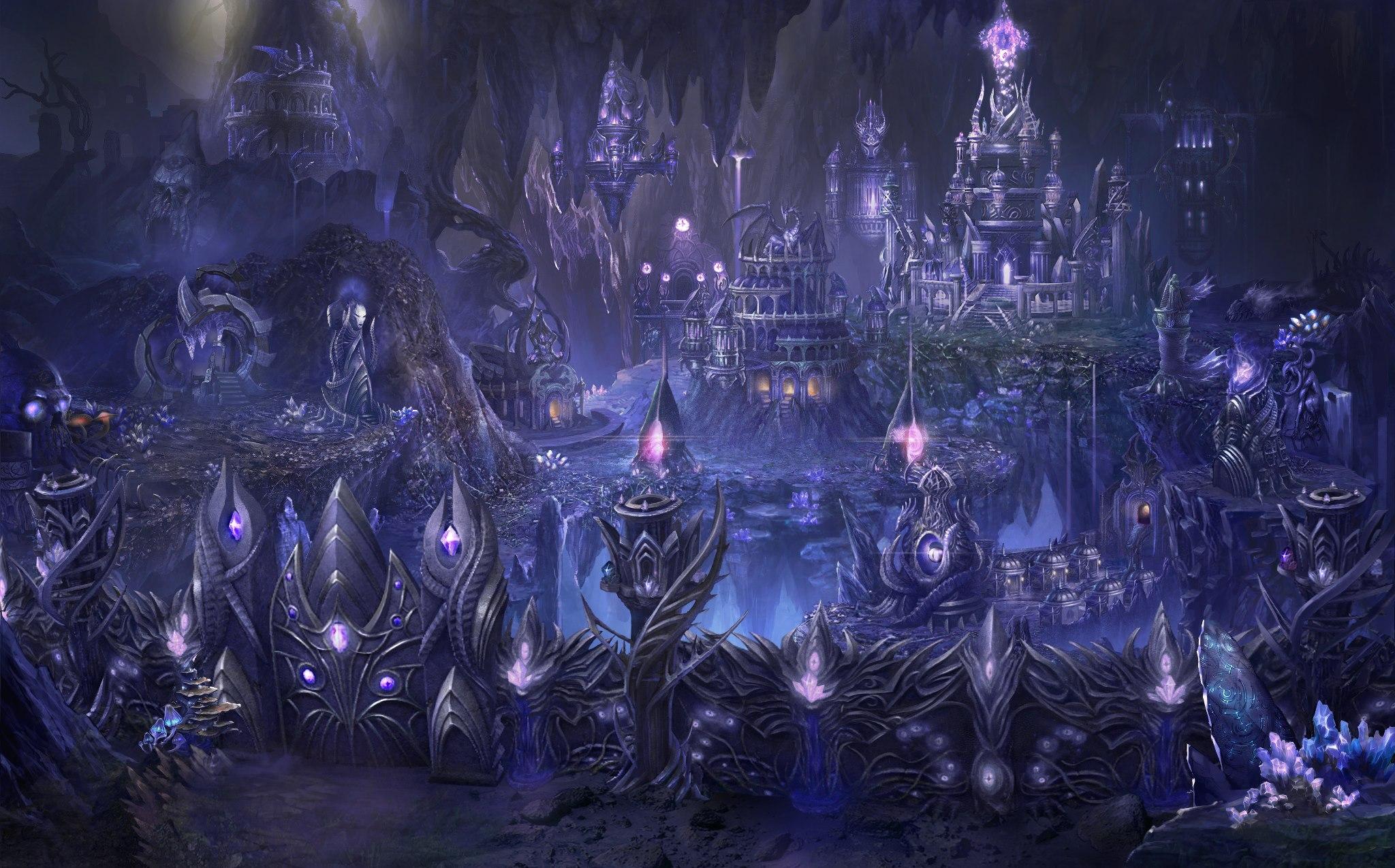De ángeles y demonios: un cantar de fuego y sangre Dark_Elf_city