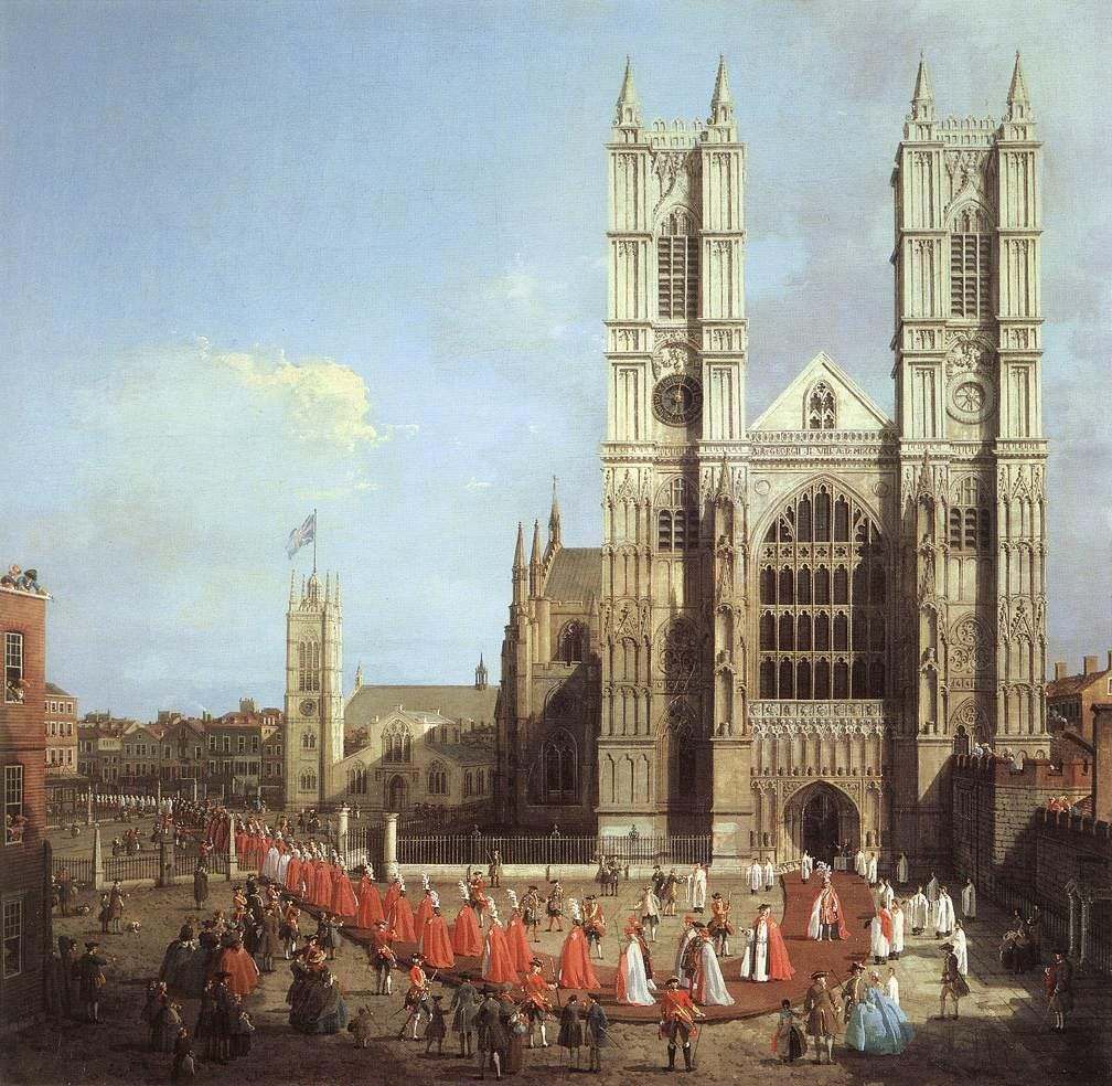 La evolución de Londres en 2.000 años  Westminster-abbey-built-in-the-10th-century-is-a-world-heritage-site-and-one-of-londons-oldest-and-most-important-buildings-here-it-is-in-a-1749-painting