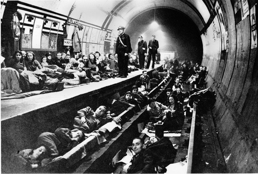 La evolución de Londres en 2.000 años  Wwii-devastated-london-starting-in-1941-as-seen-below-civilians-hid-in-underground-train-stations-to-get-away-from-air-raids-which-killed-approximately-30000-londoners-by-the-wars-end-the-city-then-slowly-began-to-rebuild-itself