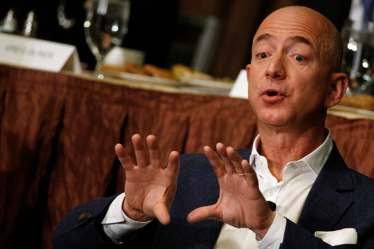 Jeff Bezos Hand Print. CURRENTLY RICHEST MAN IN THE WORLD.  Jeff-bezos