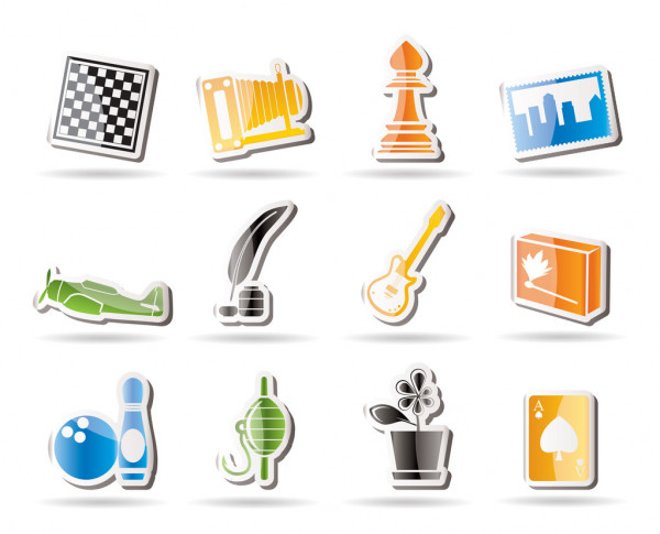 Ako sa dnes máš? 6 - Stránka 5 Depositphotos_5063693-Simple-Hobby-Leisure-and-Holiday-Icons