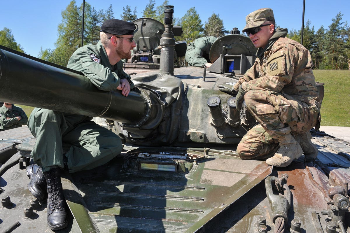 NATO Tank Competition 2016 Here-international-troops-inspect-slovenias-m-84-tank-troops-from-all-countries-performed-inspections-of-each-others-armor-to-improve-interoperability