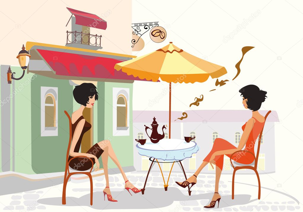 Tardes charla, musica y cafe Depositphotos_6535328-Girls-drinking-coffee-in-the-cafe