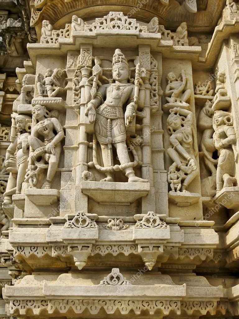 Indijsko vajarstvo Depositphotos_6244361-Sculpture-in-the-Jain-Temple-Udiapur-India