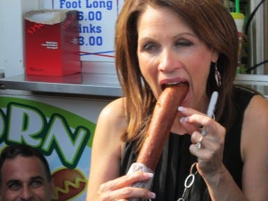 The horrible death and resurrection of Codename: Mackadamia ! - Page 2 Michele-bachmann-corndog