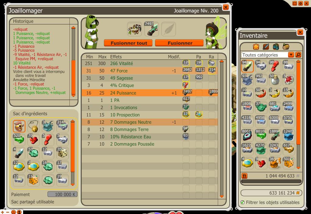 Amélioration de l'interface forgemagie. 811940ac26b12e7c65926a84dd568d25