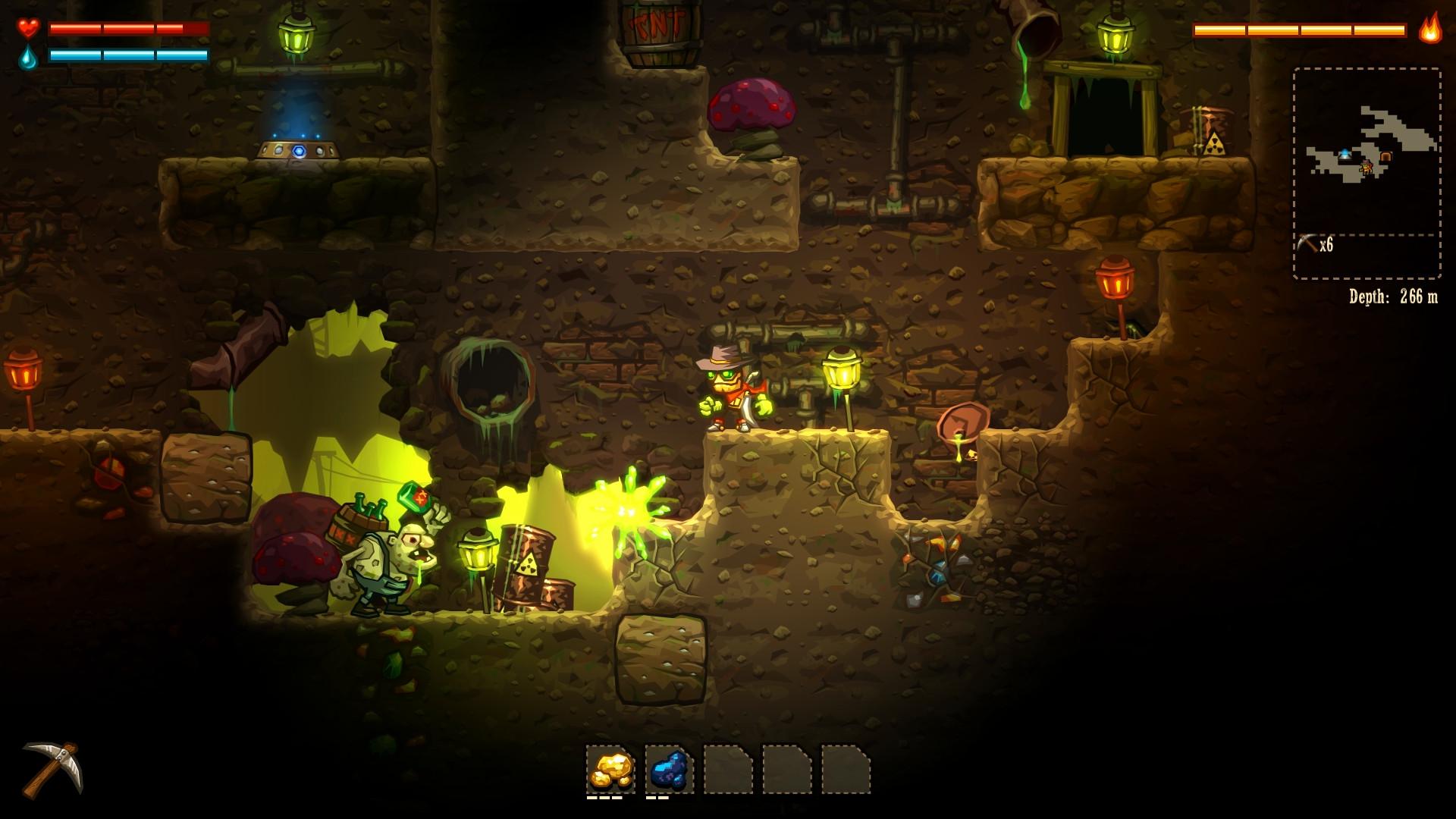 Review: Steamworld Dig (Wii U eShop) SteamWorldDig6_hd