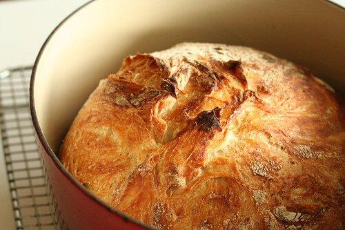 No Knead Bread: so easy a 4-yr old can make it! No-knead-bread