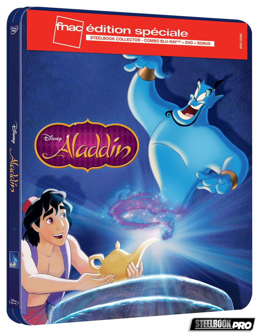 Les Blu-ray Disney en Steelbook [Débats / BD]  - Page 3 Aladdin-steelbook-fnac