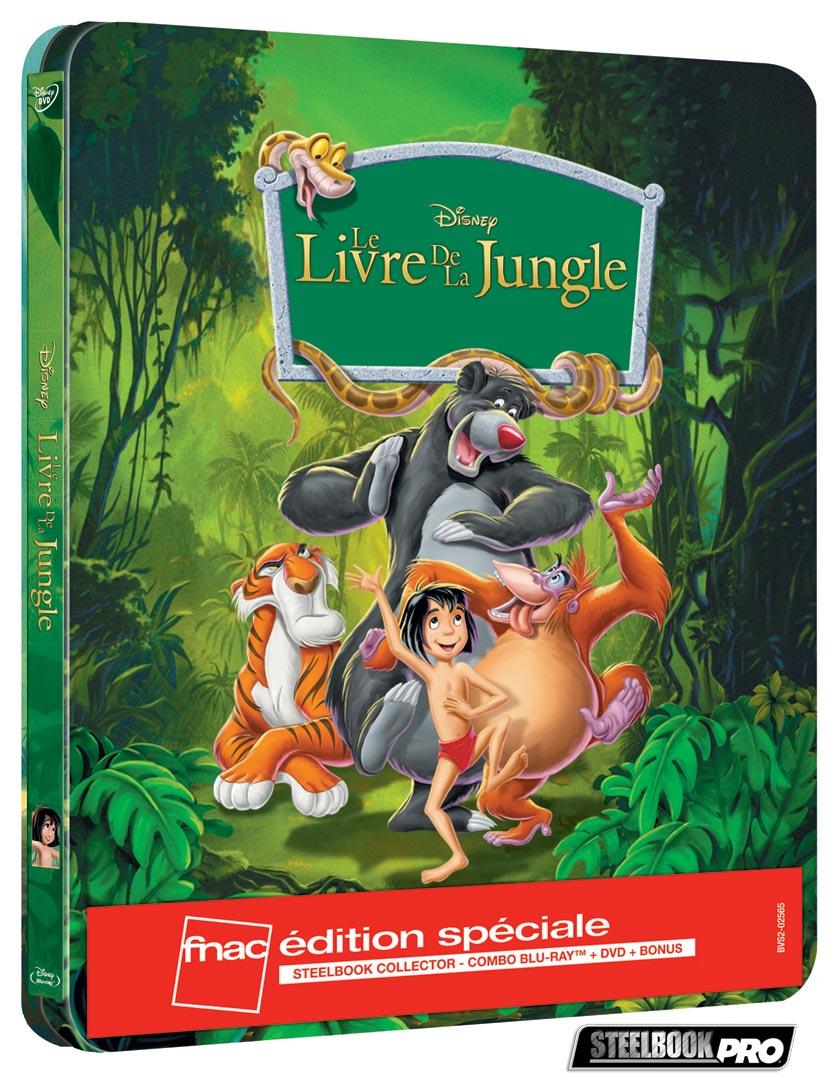 Les Blu-ray Disney en Steelbook [Débats / BD]  - Page 3 Le-livre-de-la-jungle-steelbook-fnac