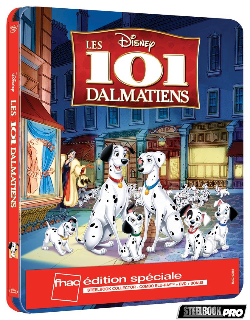Les Blu-ray Disney en Steelbook [Débats / BD]  - Page 3 Les-101-Dalmatiens-steelbook-fnac
