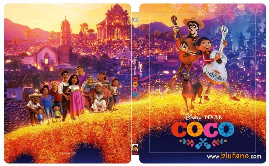 Coco [Pixar - 2017] - Page 7 Coco-Blufans-steelbook-1