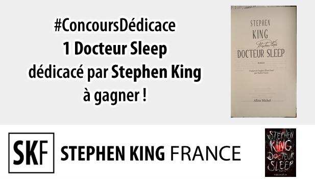 Concours DOCTEUR SLEEP dédicacé chez Stephen King France ConcoursDedicace2