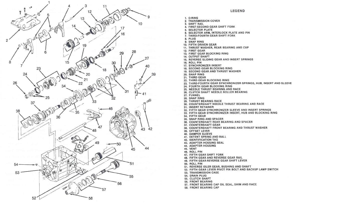 Demontage Borg Warner T5 [BV CJ7 DIESEL/2.0L ESSENCE] - Page 2 Nomenc10