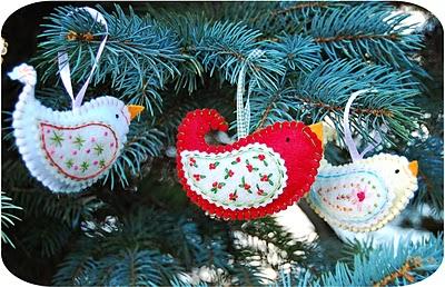 Новый год в стиле кантри Bird_2