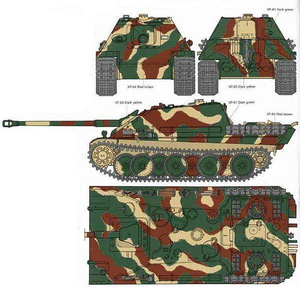 Jagdpanther, 1/35 Peinture 3 tons 71444226