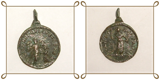 Médaille St-Antoine-de-Padoue et l'Ange gardien - XVIIème 61382457