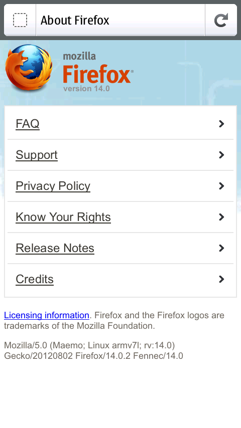 Firefox (updated to v15.0) 787a66e357660281