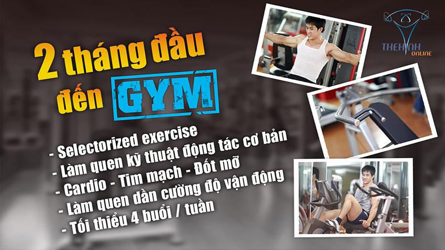 Chia sẻ, tổng hợp kinh nghiệm tập gym cho anh em Teenvi 2-thang-dau-tien