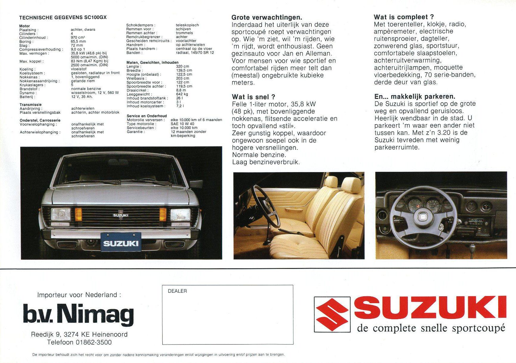 Suzuki Fronte coupé SuzukiSC100GX531