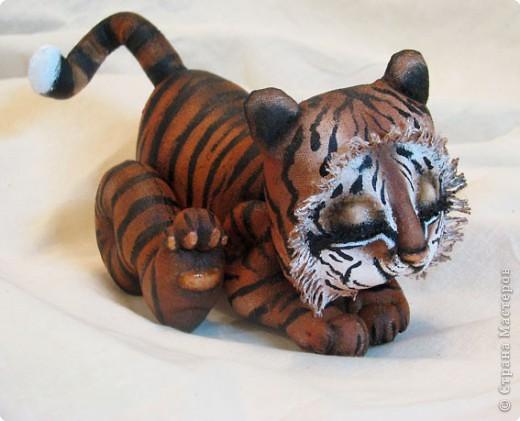 Изготовление тигренка на подсолнухе 31f