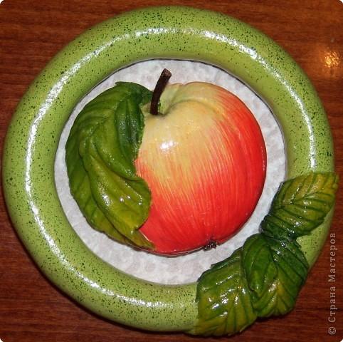 Лепим и расскрашиваем яблоки из теста Fotki_008