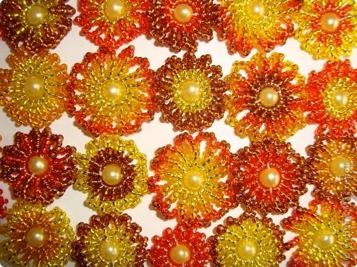Сердце из бисерных цветов Dsc02619