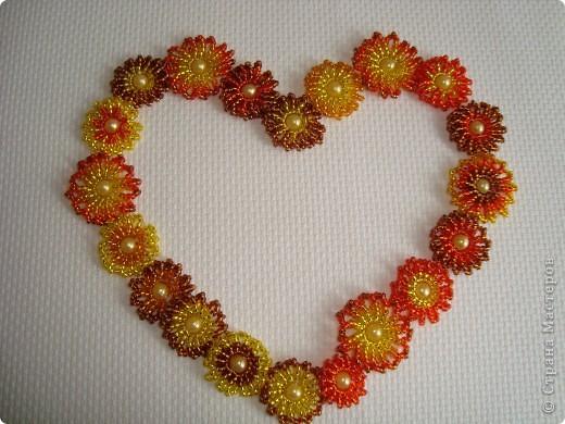 Сердце из бисерных цветов Dsc02628