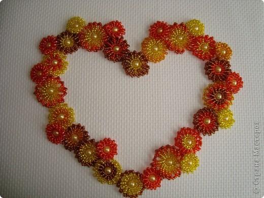 Сердце из бисерных цветов Dsc02631