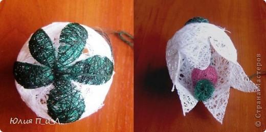 зелень или веточки из ниток.  Kolokol