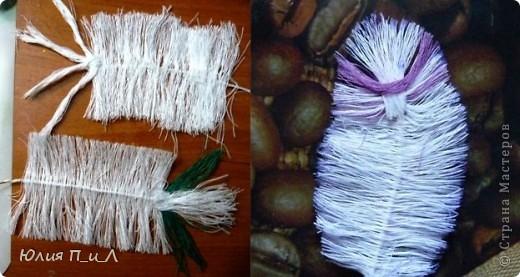 зелень или веточки из ниток.  Perishki