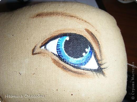 МК рисуем лицо текстильной кукле... Dscf7071