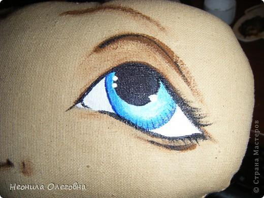 МК рисуем лицо текстильной кукле... Dscf7079