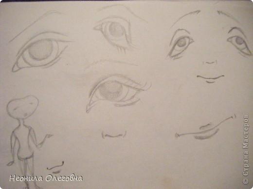 МК рисуем лицо текстильной кукле... Dscf7089