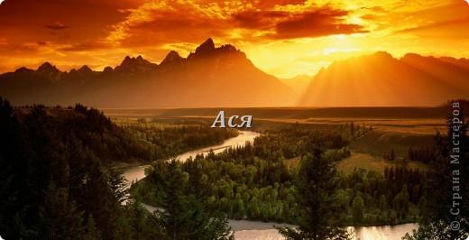 "Картина из шерсти ""Долина на закате"" Fonstola.ru-73458"