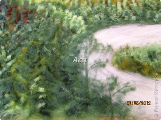 """Картина из шерсти """"Долина на закате"""" Img_1144"""