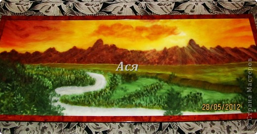 """Картина из шерсти """"Долина на закате"""" Img_1172.1_0"""