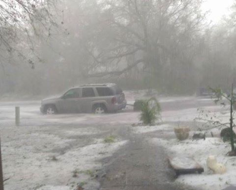 A violent hailstorm engulfed Osceola County, Florida on March 26, 2016. Florida-hailstorm