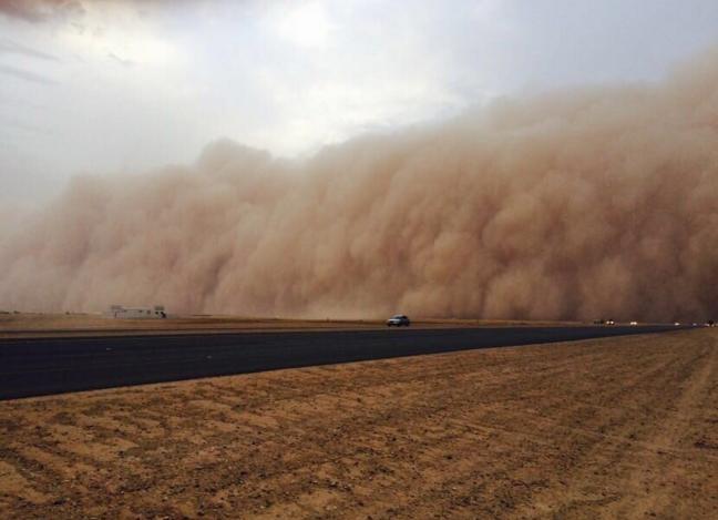 Apocalyptical sandstorm engulfs Hafr Al-Batin, Saudi Arabia on May 6, 2016 Sand-storm-saudi-arabia-2