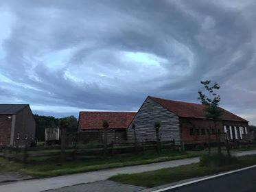 Mysterious swirl cloud appears locally over Belgium Mysterious-cloud-belgium-6