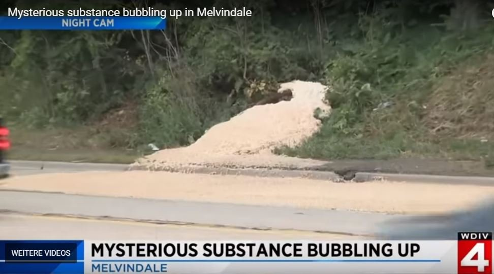Strange foam bubbling from the ground in Melvindale, SW Detroit Melvindale-mysterious-foam-bubbling