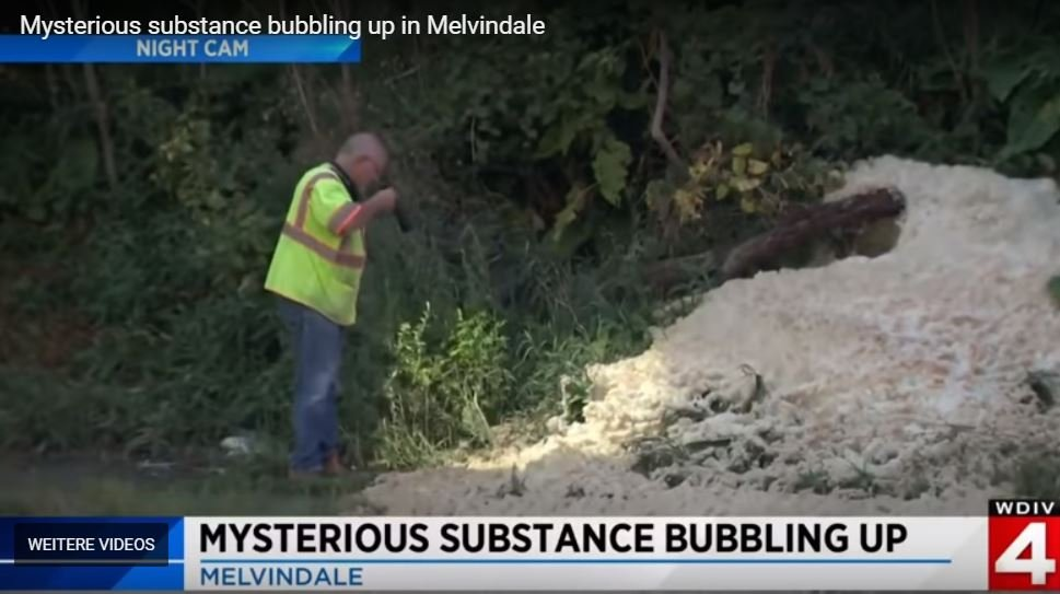 Strange foam bubbling from the ground in Melvindale, SW Detroit Mysterious-substance-bubbling-up-melvindale
