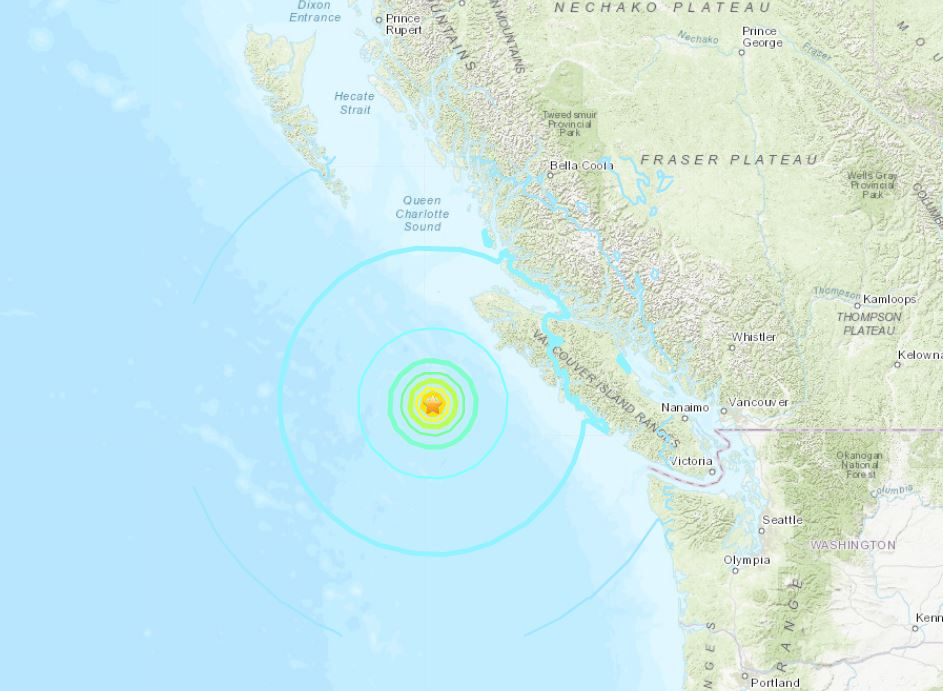 Earthquake Update - M6.8, M6.2 Vancouver Island M6.8-earthquake-vancouver-island-bc